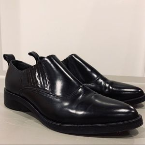 Genuine Leather Unique Pointed Toe Loafers